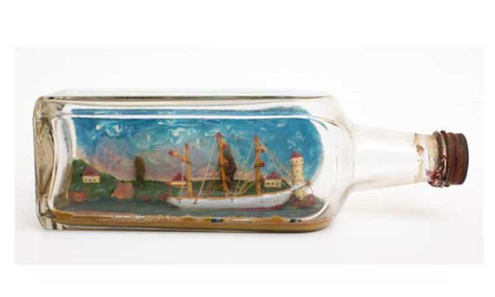 ship in a bottle - German Prisoner of War, Wynches Camp, Much Hadham
