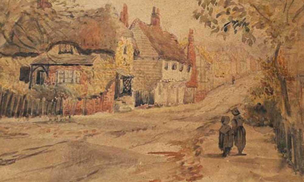 Much Hadham High Street by unknown artist