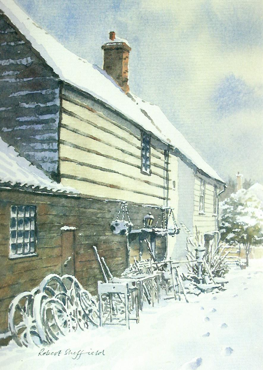Much Hadham Forge in Winter