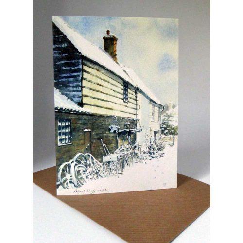 Robert Sheffield - Much Haqdham Forge in winter Card