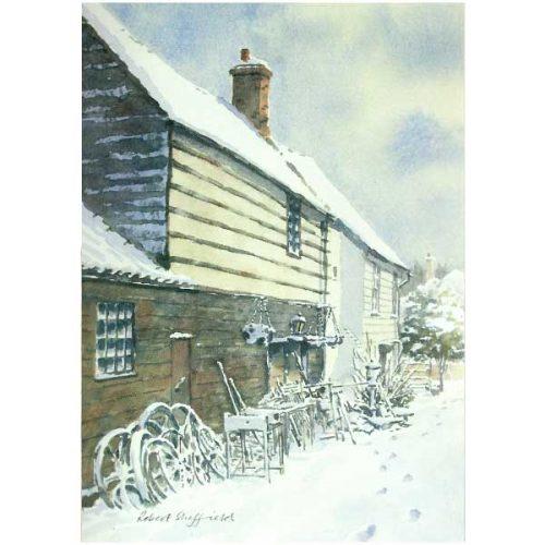 Much Hadham Forge Greeting Card - Robert Sheffield