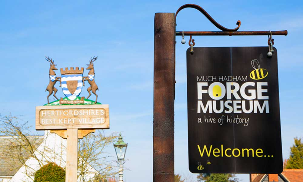 much hadham forge museum sign