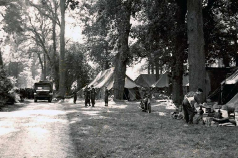 Evacuees camp much hadham