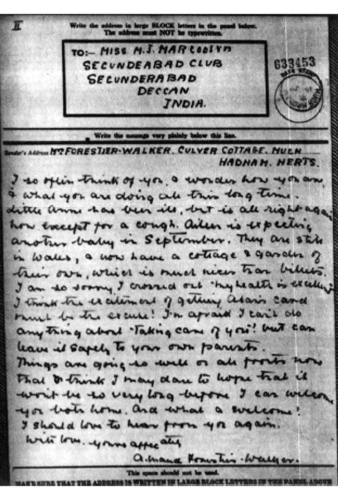 Letter 1 pow camp