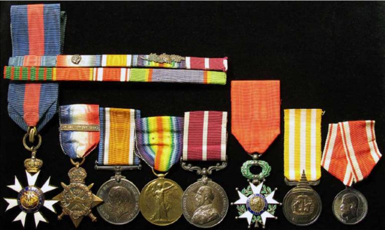 Doll war medals